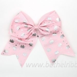 valentine printed hair bows
