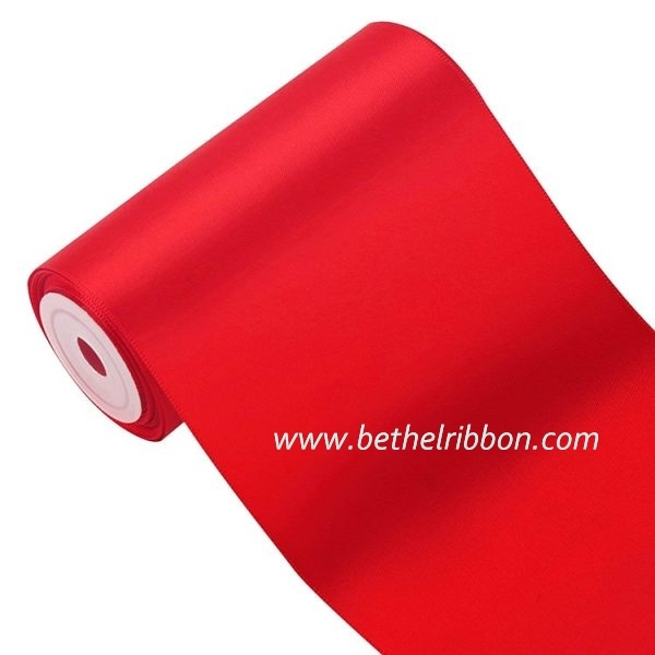 6 inch red satin ribbon wholesale