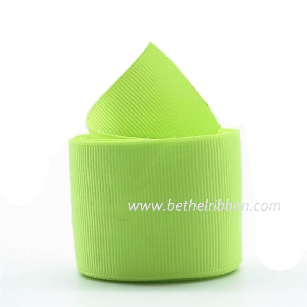 1.5inch apple green grosgrain ribbon