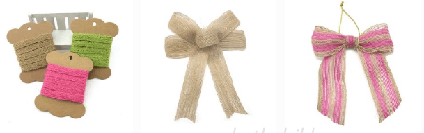 burlap ribbon and jute ribbon 5