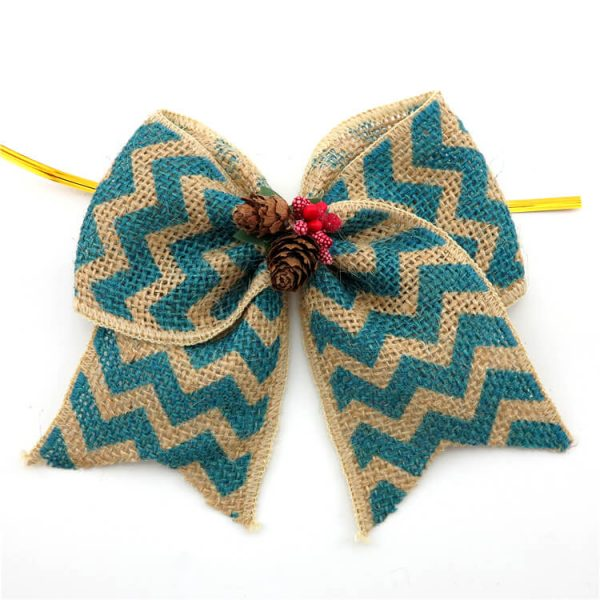 comfortable colored jute ribbon bow for package