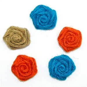 coloured jute ribbon bow for gift