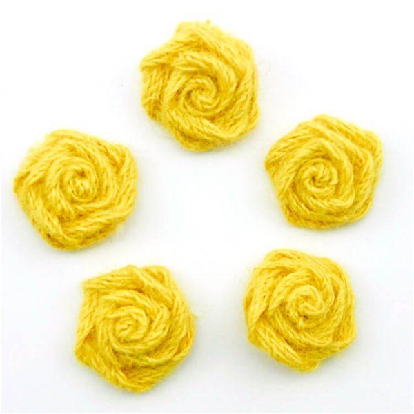 coloured jute ribbon bow for gift