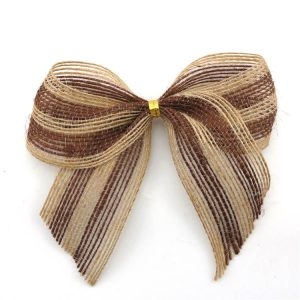 natural color beige jute ribbon bow