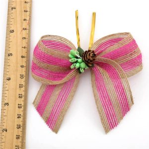 beautiful pink jute ribbon wholesale