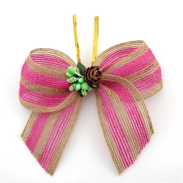 beautiful pink jute ribbon wholesale