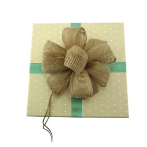 natural jute ribbon bows for gift package