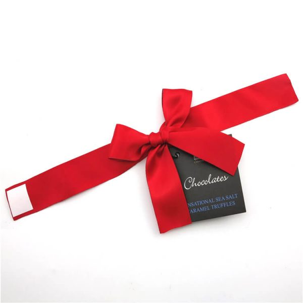 red ribbon bow tie