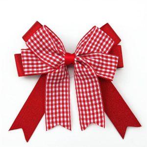 beautiful satin ribbon plaid ribbon bow