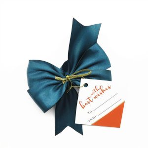 satin wine ribbon bow for red wine