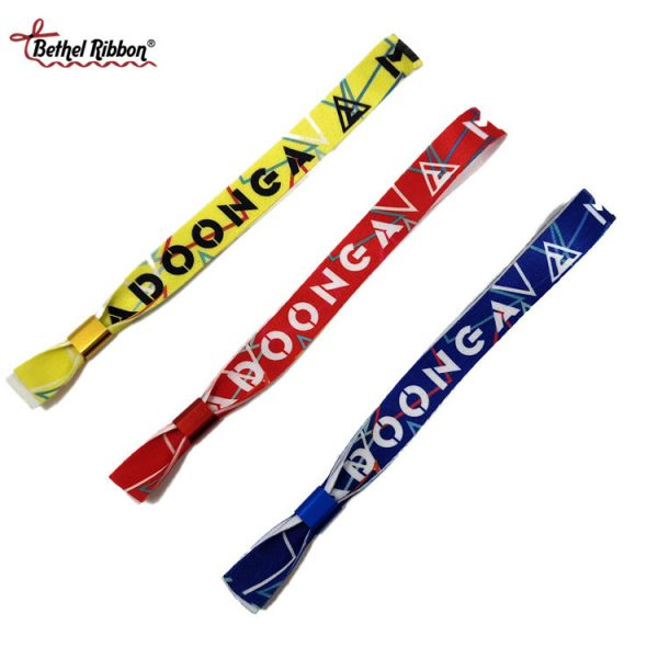 China printed ribbon wristhand wholesale