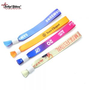 beautiful colored diy ribbon wristbands