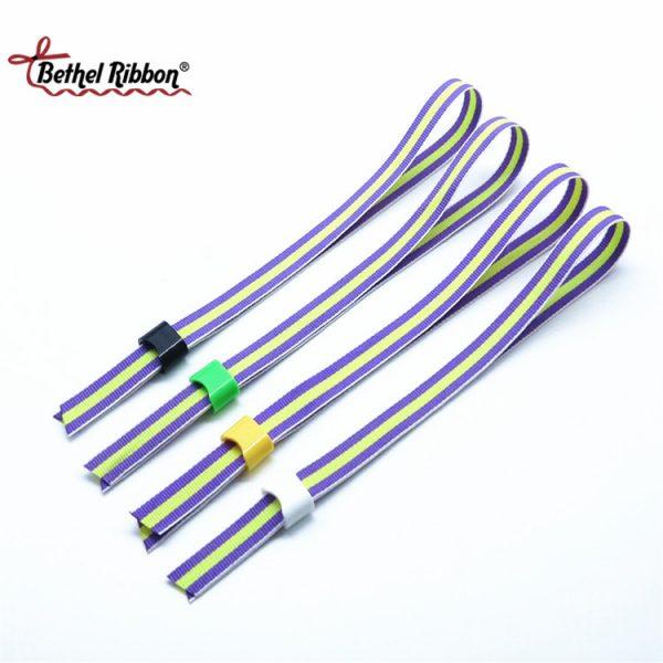 custom printed polyester ribbon wristhand