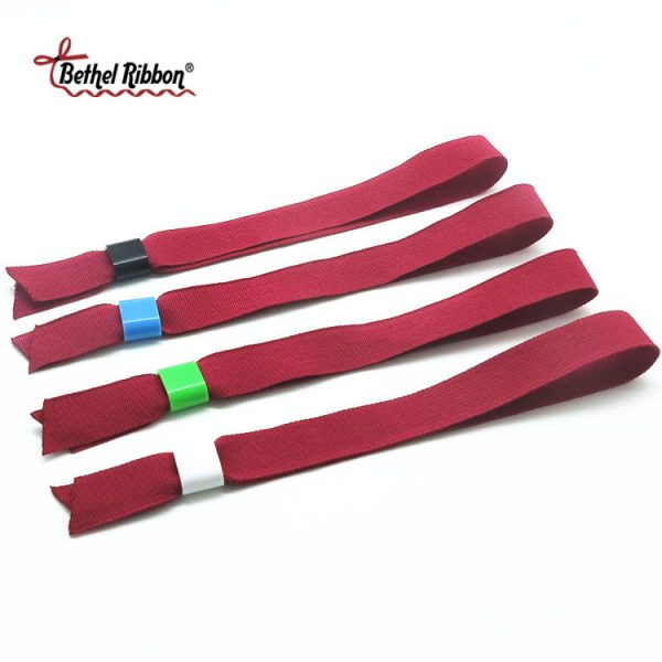 polyester colored custom ribbon wristband