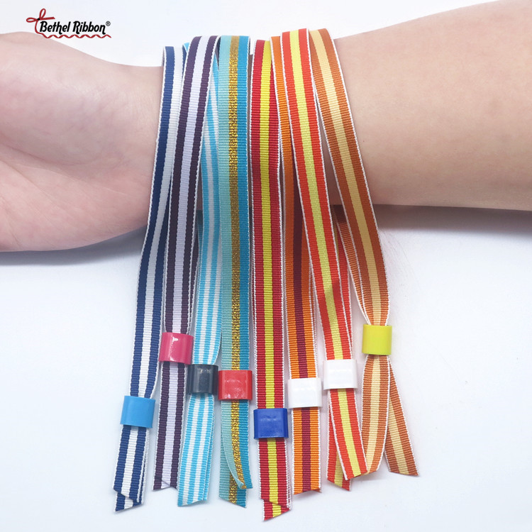 polyester ribbon wristbands